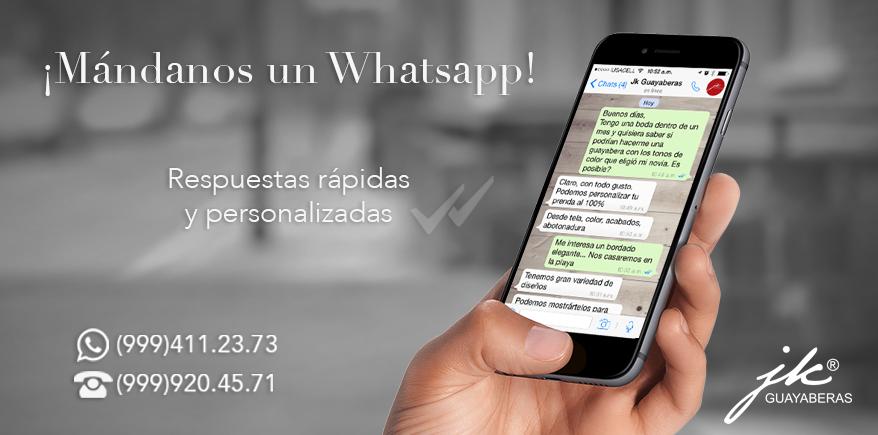 ¡Mándanos un Whatsapp!