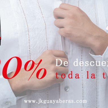 20% de descuento en todas las Guayaberas por el Buen Fin 2018